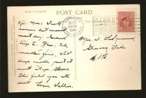 Canada Postmark 1944 Kamloops BC Caribou Highway Bridge Lillooet BC Postcard