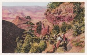 Fred Harvey Party On Bright Angel Trail Grand Canyon Arizona Detroit Publishing