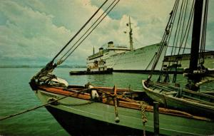 Puerto Rico Caribbean Cruise Ship At San Juan Harbor