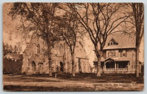 Olde Saybrooke Connecticut~Episcopal Church~House Beside~Lots of Trees~1911