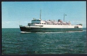 M.V.S. ABEGWEIT Ice Breaker Ferry Passenger NB to PEI pm1964 Chrome 1950s-1970s