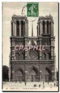 Paris Old Postcard Facade of Notre Dame