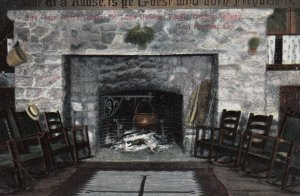LOS ANGELES, California, 1909; Fire Place, Alpine Tavern, Mt. Lowe Division o...