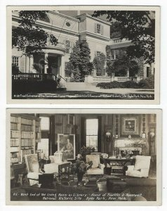 (2) RPPC's, Views of The Home of Franklin D. Roosevelt in Hyde Park, New York