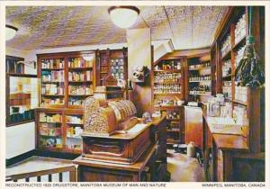 Canada Winnipeg Reconstructed 1920 Drug Store Manitoba Museum Of Man and Nature