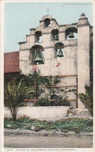 CALIFORNIA; The Bells, San Gabriel Mission, PU-1926