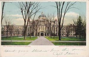 Michigan University Hall University Of Michigan 1906