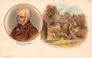 William Wordsworth, English Romantic poet, Postcard Souvenir