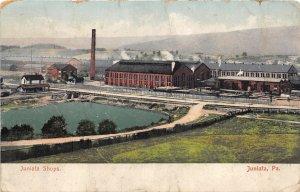 H85/ Juniata Pennsylvania Postcard c1910 Juniata Shops Railroad 210