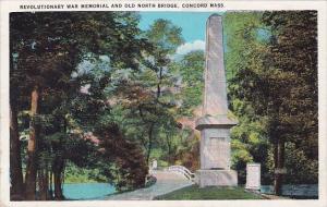 Massachusetts Concord Revolutionary War Memorial And Old North Bridge