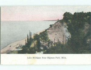 Divided-back LAKE SCENE Benton Harbor & St. Joseph Michigan MI AE5144