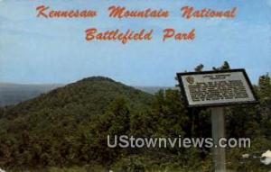 Kennesaw Mt. National Battlefield Park Marietta GA Unused