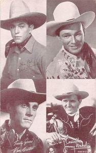 Fred Humes, Roy Rogers, Jimmy Wakely, Ken Curtis Western Actor Mutoscope Unused