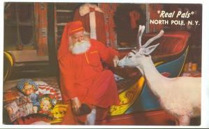 Real Pals, Santa & Reindeer, North Pole, New York, 1950s