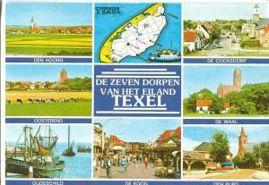 De Zeven Dorpen van het Eiland Texel, 1986 used Postcard