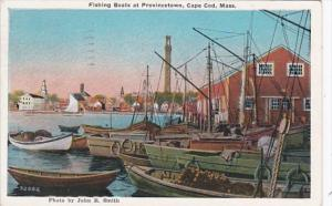 Massachusetts Cape Cod Fishing Boats At Provincetown 1934 Curteich