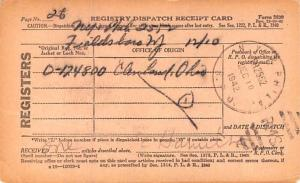 Registry Dispatch Receipt Card 1942