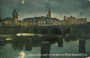 Moonlight Night on Genesee River Rochester NY pm 1912 Ad for Ware Photo Machine