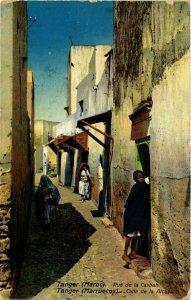 CPA AK Tanger Rue de la Casbah MAROC (824826)