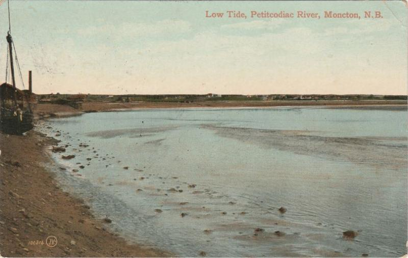 Low Tide on Petitcodiac River - Moncton NB, New Brunswick, Canada - pm 1912 - DB