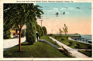 Virginia National Soldiers' Home Drive and Walk Along The Water Front 1919