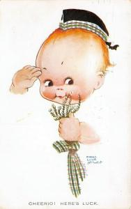 Mabel Lucie Attwell~Cheerio! Here's Luck~Baby Fade Away Salutes~Scottish Heather