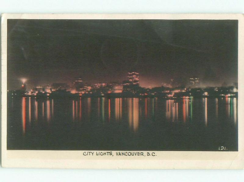1940's rppc NICE VIEW Vancouver British Columbia BC W0930