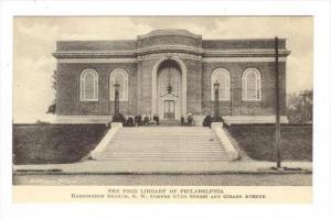 The Free Library Of Philadelphia, Pennsylvania, 1900-1910s
