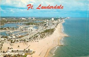 Fort Lauderdale Florida~Aerial View Beach Front~Bahia Mar~Hotels~1970s PC