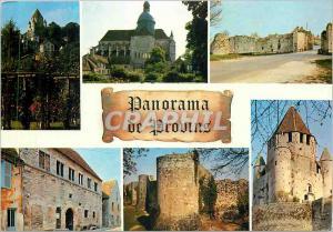 Modern Postcard Provins (Sene Marne) The Rose Garden Church St Quirlace La Po...