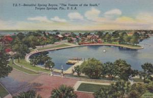 Florida Tarpon Springs Beautiful Spring Bayou 1941 Curteich