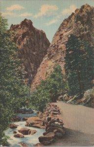 1942 PILLARS OF HERCULES  south cheyene canon colarado springs Vintage Postcard