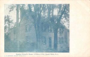 Mount Holly New Jersey Stephen Girards Home Antique Postcard J58126