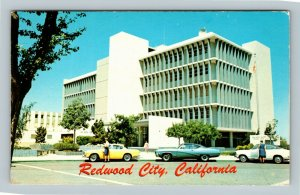 Redwood City CA, Administrative Offices, California Chrome Postcard
