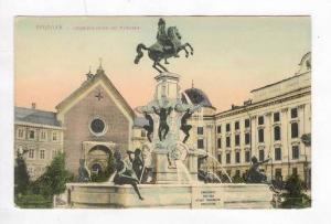 Innsbruck, Austria, 00-10s Leopoldsbrunnen mit Hofkirche