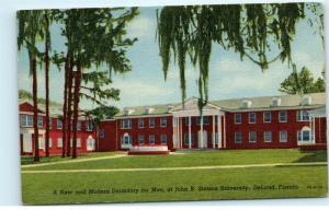 DeLand Florida John B Stetson University Mens Dormitory Dorms Rooms Postcard D93