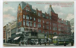 Dorrance Hotel Providence Rhode Island 1910c postcard