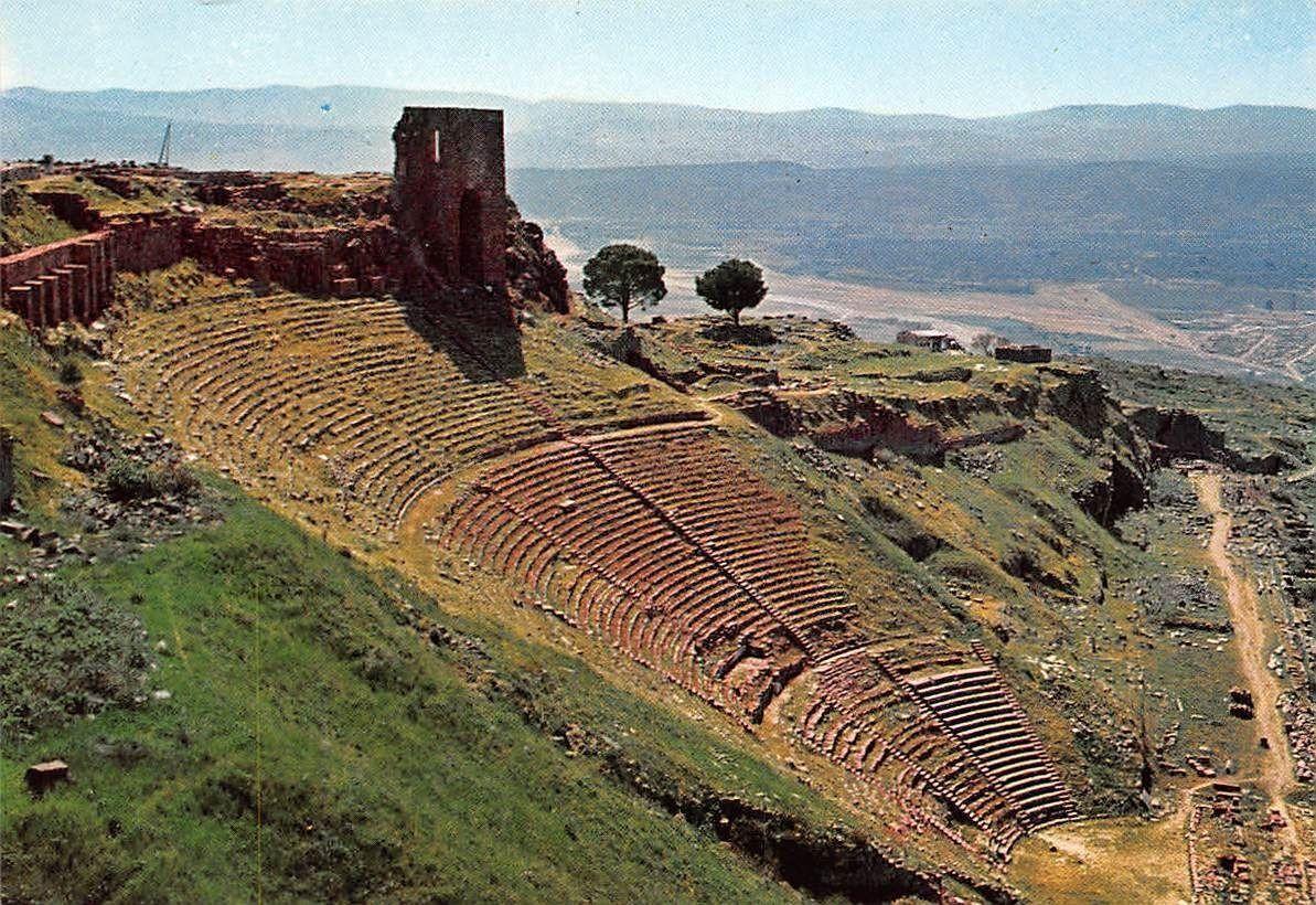 Turkey Bergama The theatre of Acropolis Akropol Tiyatrosu / HipPostcard