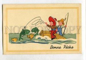 3146593 Comic FISH Fishing COWBOY as Fishermen Vintage PC