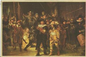 Rembrandt, De Nachtwacht, La Ronde de Nuit, unused Postcard