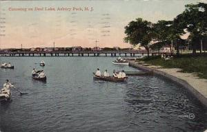 Canoeing On Deal Lake Asbury Park New Jersey 1912