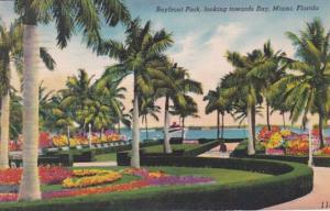 Florida Miami Bayfront Park Looking Towards Bay 1950