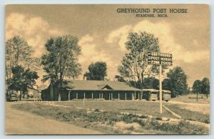 Standish Michigan~Greyhound Bus Station~Depot Post House Restaurant~1940s B&W