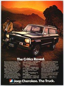 1980 Jeep Cherokee The Truck 4 Wheel Drive Print Ad A2