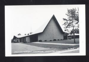 RPPC OCONTO WISCONSIN PRESBYTERIAN CHURCH VINTAGE REAL PHOTO POSTCARD