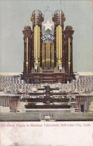 Utah Salt Lake City The Great Organ In Mormon Tabernacle