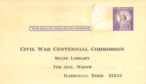 Civil War Post Card Old Vintage Antique Postcard Civil War Centennial Commiss...