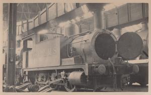 LMS 2F Class 0-6-0T No 27512 Vintage Real Photo Train Postcard