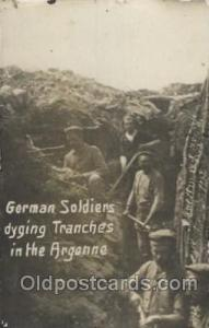 German Soldiers diging trenches in the Argonne, Military Postcard Postcards  ...