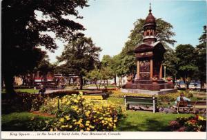 King Square St. John New Brunswick NB Unused Vintage Postcard D43